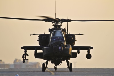 Apache attack helicopter in Afghanistan